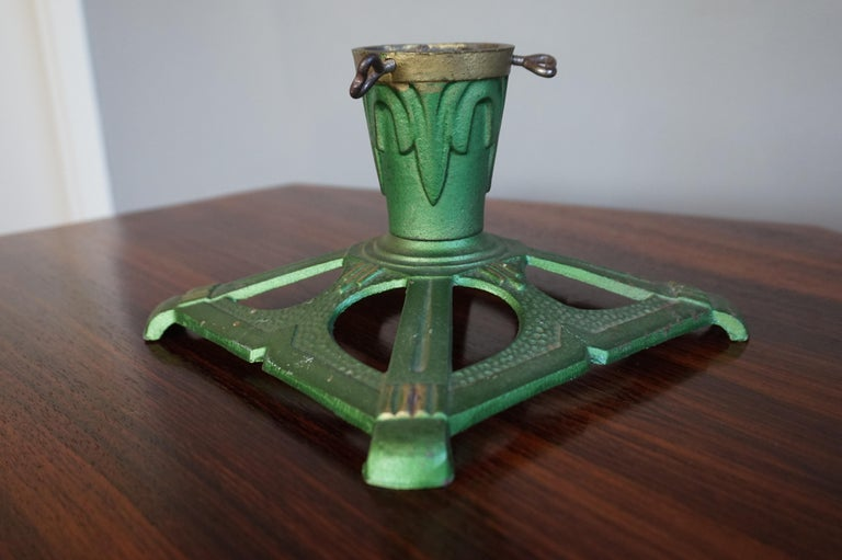 Lovely Handcrafted Cast Iron Art Deco Tree Stand for Small ...