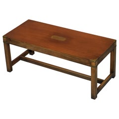 Lovely Harrods London Kennedy Military Campaign Style Coffee Table Mahogany