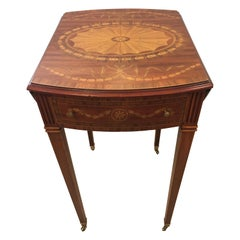 Lovely Inlaid Pembroke Drop Leaf Small Side Table