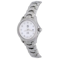 Lovely Ladies TAG-Heuer Link Automatic Diamond Mother of Pearl Wristwatch