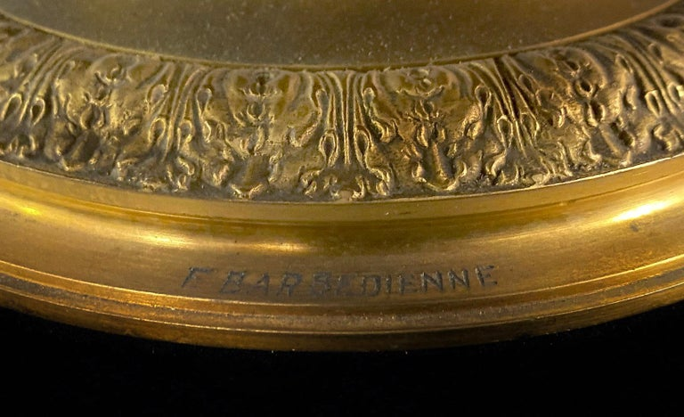 Lovely Late 19th Century Gilt Bronze and Crystal Centerpiece by Barbedienne For Sale 1