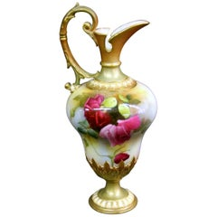 Lovely Late 19th Century Hand Painted Royal Worcester Porcelain Pitcher