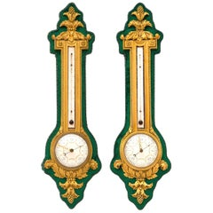 Lovely Louis XVI Style Barometer and Thermometer by H. Dasson