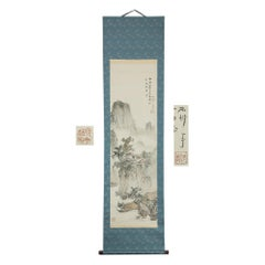 Lovely Fusetsu NakamuraScroll Painting Japan Artist Flowers Painted