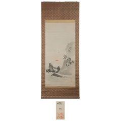 Lovely Meiji Period Scroll Paintings Japan Meiji Artist Fuko Matsumoto