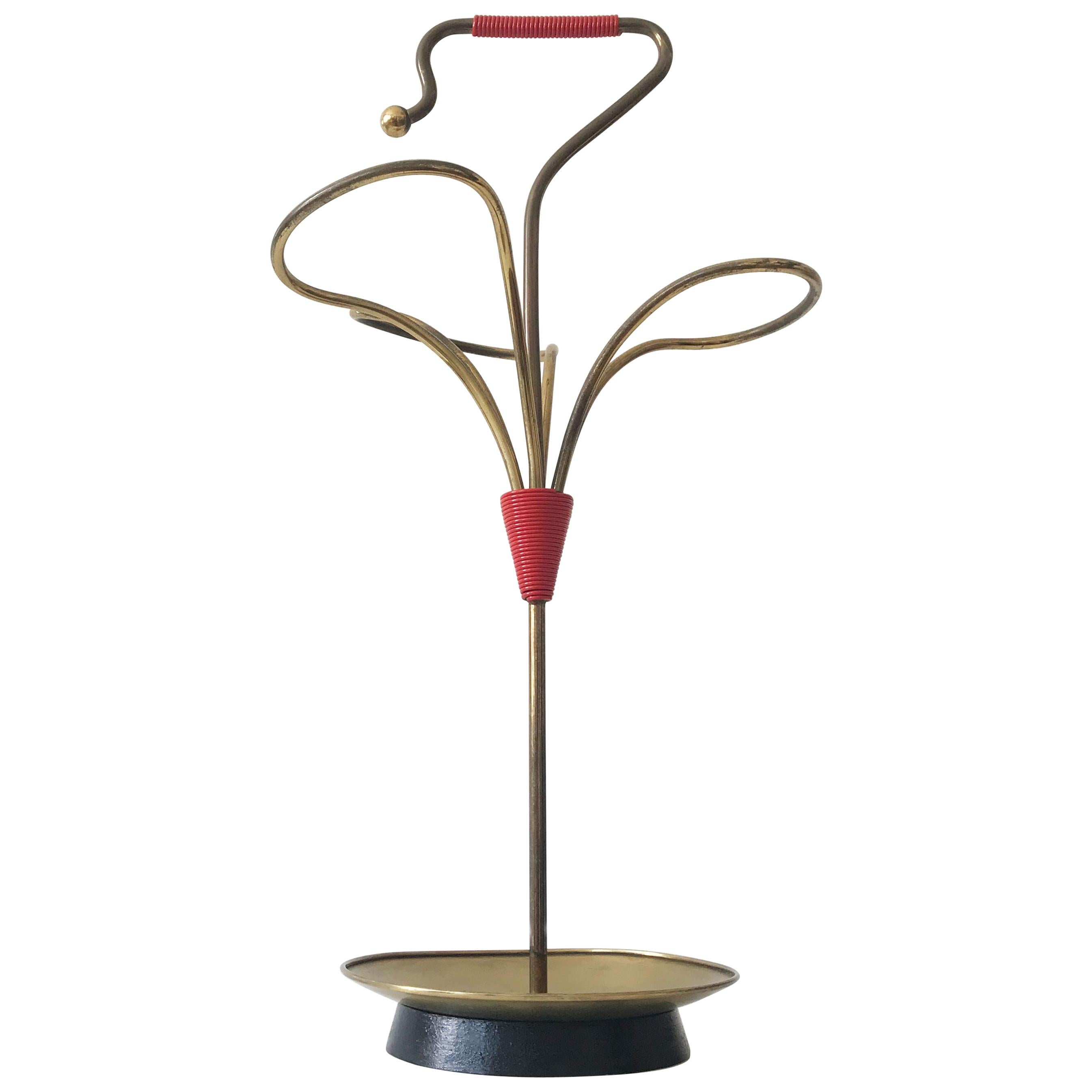 Lovely Mid-Century Modern Brass Umbrella Stand, 1950s, Austria