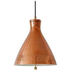 Lovely Mid-Century Modern Scandinavian Copper Pendant Lamp, 1960s