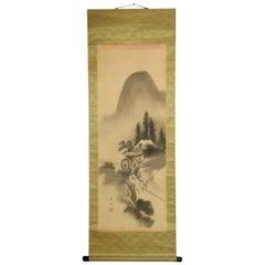Lovely Nihonga Scene Meiji/Taisho Period Scroll Japan Artist Painting