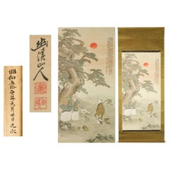 Lovely Nihonga Scene Taisho / Showa Period Scroll Japan Artist Landscape Figure