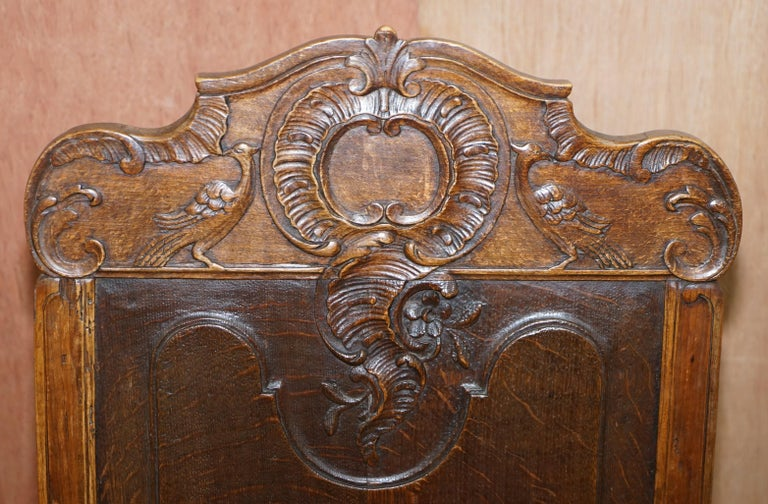 Hand-Crafted Lovely Original 18th Century Herve Liege Belgium Carved Wood Armchair Wainscot For Sale