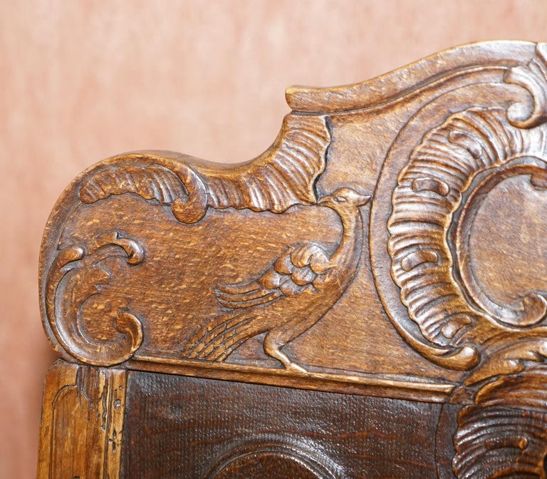 Lovely Original 18th Century Herve Liege Belgium Carved Wood Armchair Wainscot In Good Condition For Sale In , Pulborough