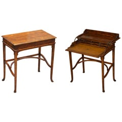 Lovely Original Theodore Alexander Folding Campaign Desk Brown Leather Surface