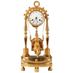 Lovely Ormolu Clock with a Swing