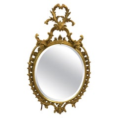 Lovely Oval French Style Giltwood Mirror