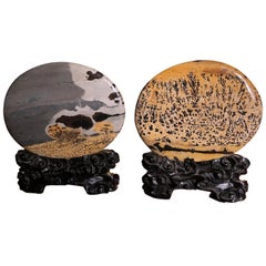Lovely Pair Natural Viewing Stones, Collectors Work of Art