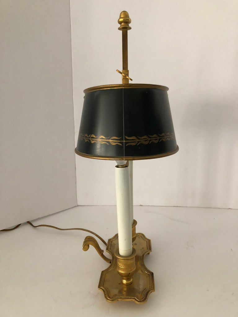 Lovely Pair of French Bouillotte Lamps For Sale 5