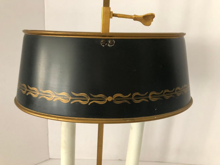 Lovely Pair of French Bouillotte Lamps For Sale 1