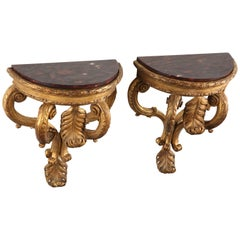 Lovely Pair of Giltwood Console d'Applique