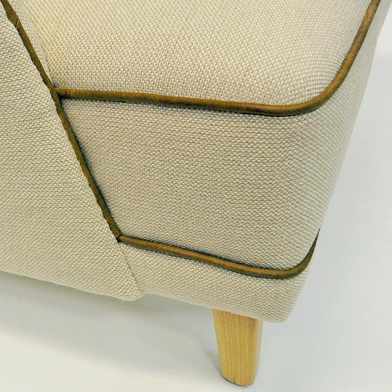 Lovely Norwegian Pair of elm Easy Chairs by Møller & Stokke, 1940s In Good Condition For Sale In Stockholm, SE