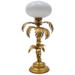 Lovely Palm Tree Table Lamp from Hans Kögl, 1970s, Germany