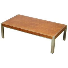 Lovely Renato Zevi  Maple and Brass Square Coffee Table Jeroen Markies
