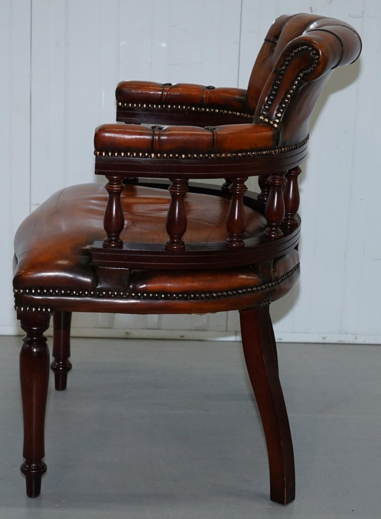 Lovely Restored 1960 Chesterfield Vintage Brown Leather