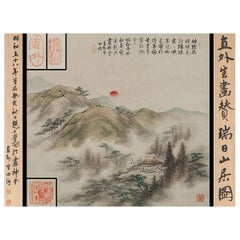 Lovely Scroll Painting Japan, 20th Century 'Showa' Artist Landscape Scene