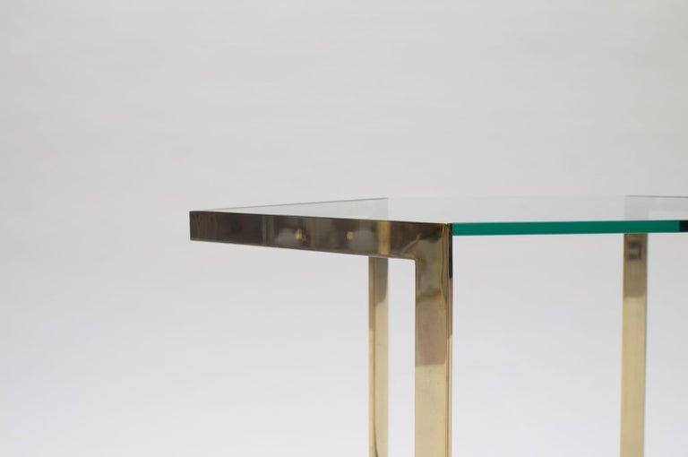 Lovely Set of 4 Brass Modular Side Tables, France, 1960s For Sale 6