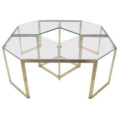 Lovely Set of 4 Brass Modular Side Tables, France, 1960s