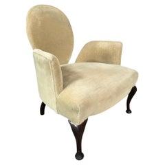 Lovely Shaped Mahogany Victorian 'Swan' Arm Chair Very Unusual Shape