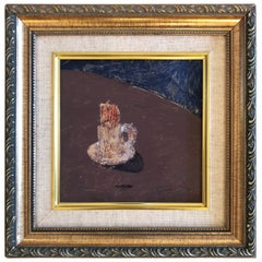 Lovely Small Oil Painting Still Life by Isaac Monteiro