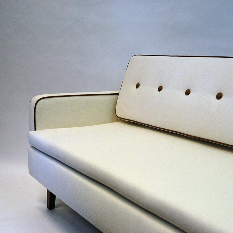 Lovely Sofa and Daybed of White Wool by Ire Möbler, 1950s, Sweden For Sale 3