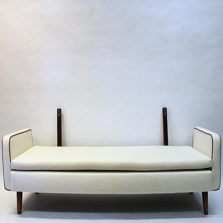 Mid-20th Century Lovely Sofa and Daybed of White Wool by Ire Möbler, 1950s, Sweden For Sale