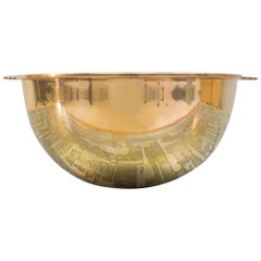 Lovely Solid Brass Bowl from the 1940s-1950s, France