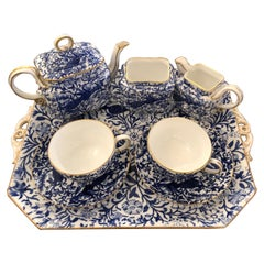 Lovely Staffordshire Peacock Pattern English Tea Set