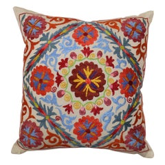 Lovely Suzani Embroidery Textile Pillow