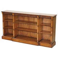 Lovely Theodore Alexander Breakfront Library Dwarf Open Bookcase