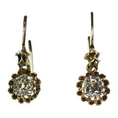 Lovely Victorian Mine Diamond Earrings
