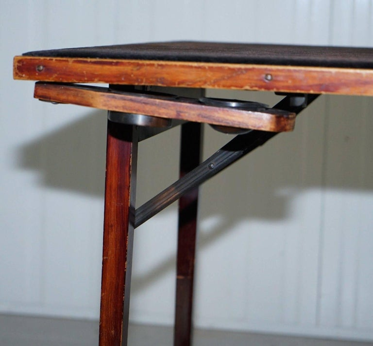 Lovely Vintage Edwardian Folding Card Table Fully Stamped Registered x Trademark For Sale 1