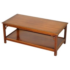 Lovely Vintage Flamed Mahogany Bradley Furniture Long Coffee Table Nice Design