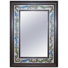 Lovely Vintage Mediterranean Tile Mirror Signed to the Bottom Lovely Look & Feel