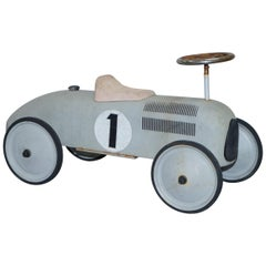 Lovely Vintage Style Childrens French Push on Metal Racing Car Lovely Patina