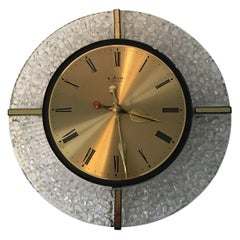 Lovely Wall Clock 1960s with Bubble Glass Surrounding in W.Germany 1960s