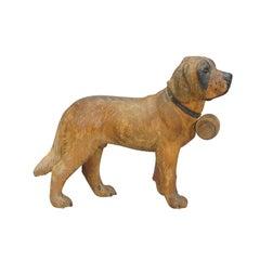 Lovely Wooden St. Bernhard Dog Carved in Brienz, ca. 1930