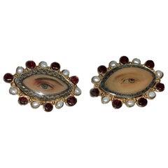 Lovers Eyes Multi Stone Earrings by MN