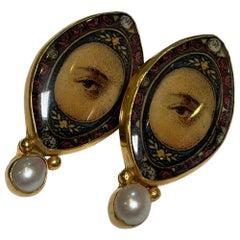 Lovers Eyes Oval 1 Stone Earrings by MN