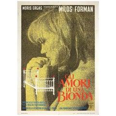 Loves of a Blonde 1966 Italian Due Fogli Film Poster