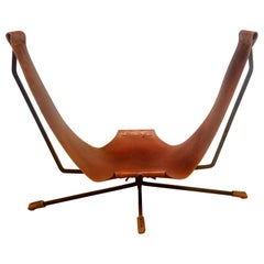 Loveseat by Dan Wegner Wrought Iron Sling Chair California Studio, circa 1972