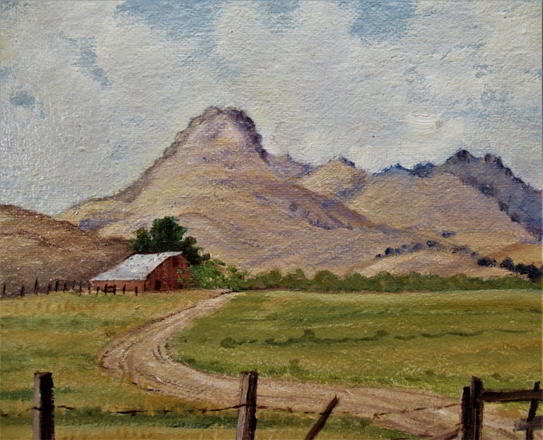 Sutter Buttes - American Impressionist Painting by Loveta Randall Hibsch