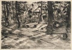 BANK IM WALDE II,  Bench in a Landscape